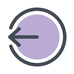 Logout Rounded Left icon
