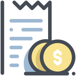 Receipt and Change icon