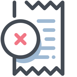 Receipt Declined icon