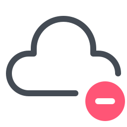 remove from-cloud icon