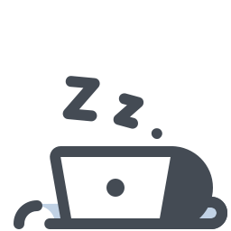 Sleeping Over the Computer icon