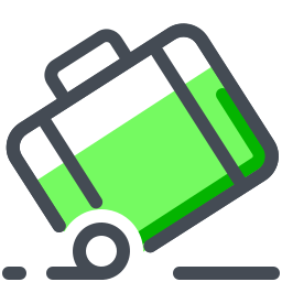 Suitcase Rolling icon