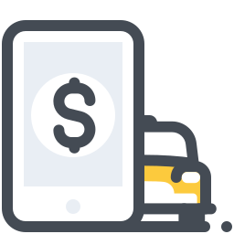 Taxi Mobile Payment icon