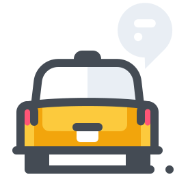 Taxi Speech Bubble icon
