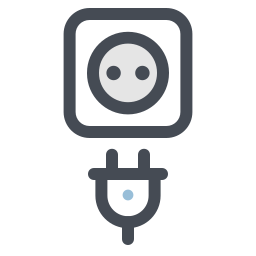 Wall Socket With Plug icon