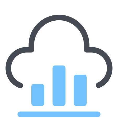 Cloud Bar Chart icon