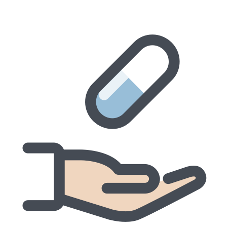 Hand With a Pill icon