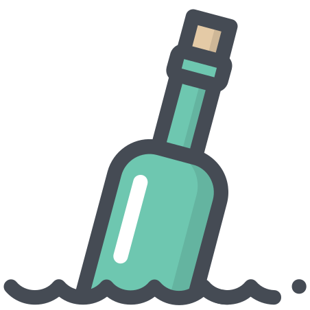 Message in Green Bottle icon