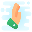 cute-clipart hand-side-view icon