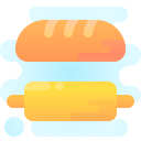 Bread and Rolling Pin icon
