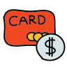 Bank Card Dollar icon