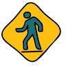 Person Walking Road Sign icon