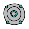 Round Digital Speaker icon