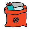 Santa Claus Bag icon
