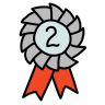 Second Place Ribbon icon