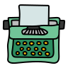 Typewriter With Paper icon