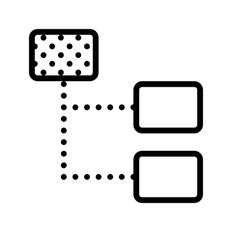 Stacked Organizational Chart Highlighted Parent Node icon