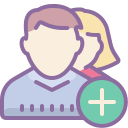 Add User Group Man Woman icon