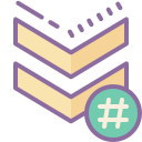 Chevron Hashtag icon