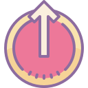 Logout Rounded Up icon