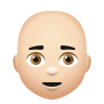 Bald Man Light Skin Tone icon