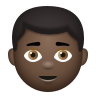 Boy Dark Skin Tone icon