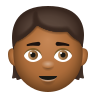 Child Medium Dark Skin Tone icon