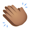 Clapping Hands Medium Skin Tone icon