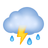 Cloud With Lightning And Rain icon