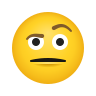 Face With Raised Eyebrow icon