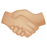 Handshake Medium Light Skin Tone icon
