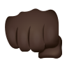 Oncoming Fist Dark Skin Tone icon