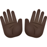 Open Hands Dark Skin Tone icon