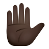 Raised Hand Dark Skin Tone icon