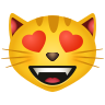 Smiling Cat With Heart Eyes icon