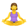 Woman In Lotus Position icon