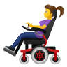 Woman In Motorized Wheelchair icon