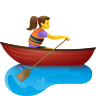 Woman Rowing Boat icon