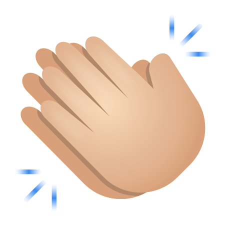 Clapping Hands Light Skin Tone icon
