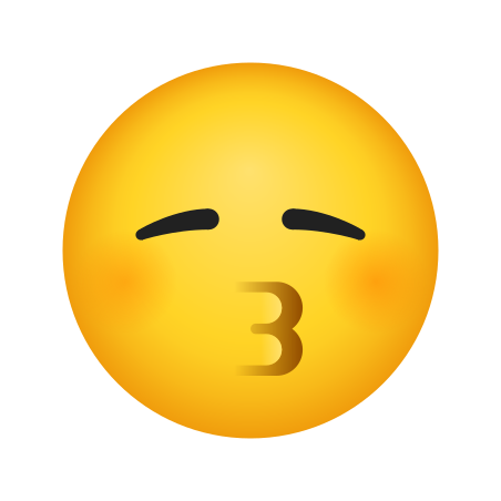 Kissing Face With Smiling Eyes icon