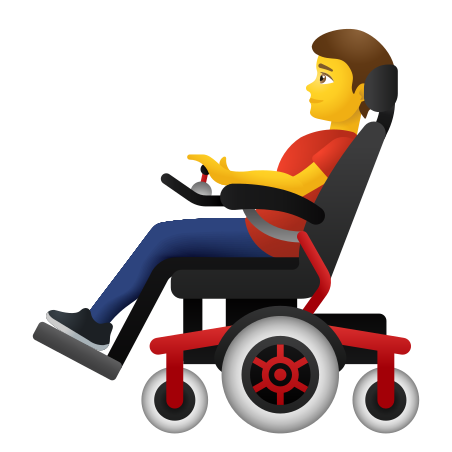 Man In Motorized Wheelchair icon