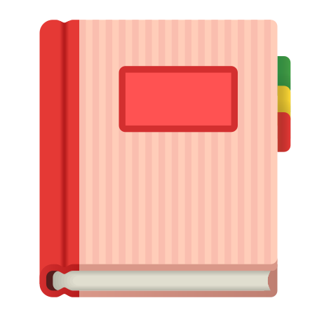 Notebook With Decorative Cover icon