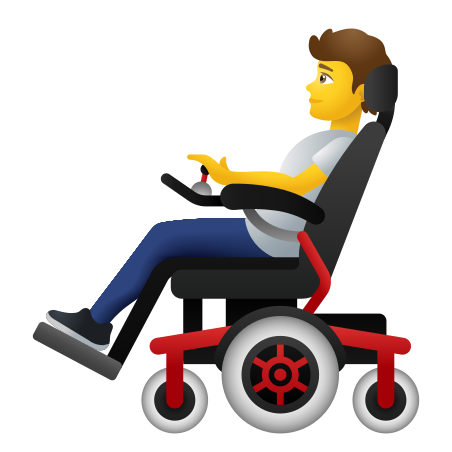 Person In Motorized Wheelchair icon
