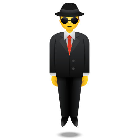 Person In Suit Levitating icon