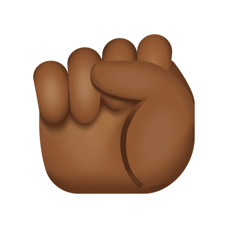 Raised Fist Medium Dark Skin Tone icon