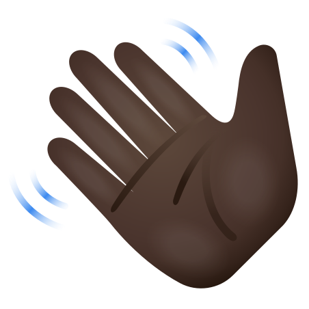Waving Hand Dark Skin Tone icon