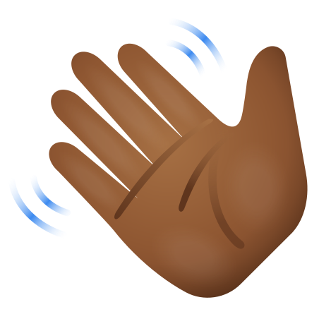 Waving Hand Medium Dark Skin Tone icon