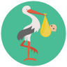 stork with-bundle icon