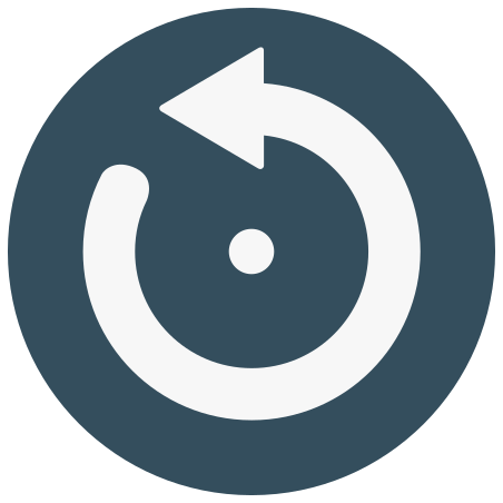 Circular Arrow Pointing to Left icon