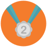 Medal Second Place icon